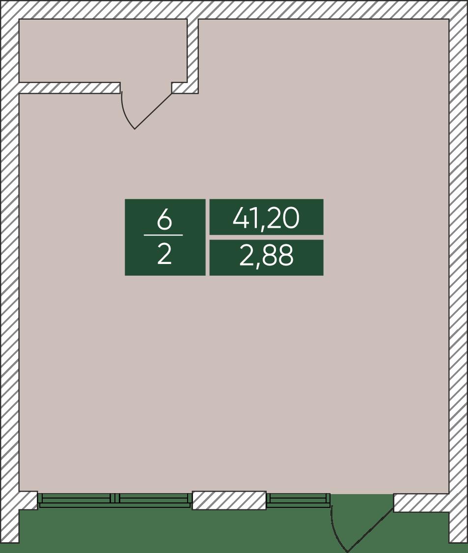 Нежитлове примiщення №6, секція 2, Дніпроводська,1 у ЖК Forest Park