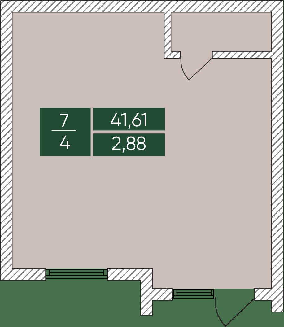 Нежитлове примiщення №7, секція 4, Дніпроводська,1 у ЖК Forest Park