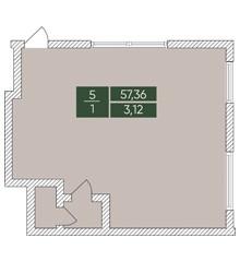 Нежитлове примiщення №5, секція 1, Дніпроводська,1 у ЖК Forest Park