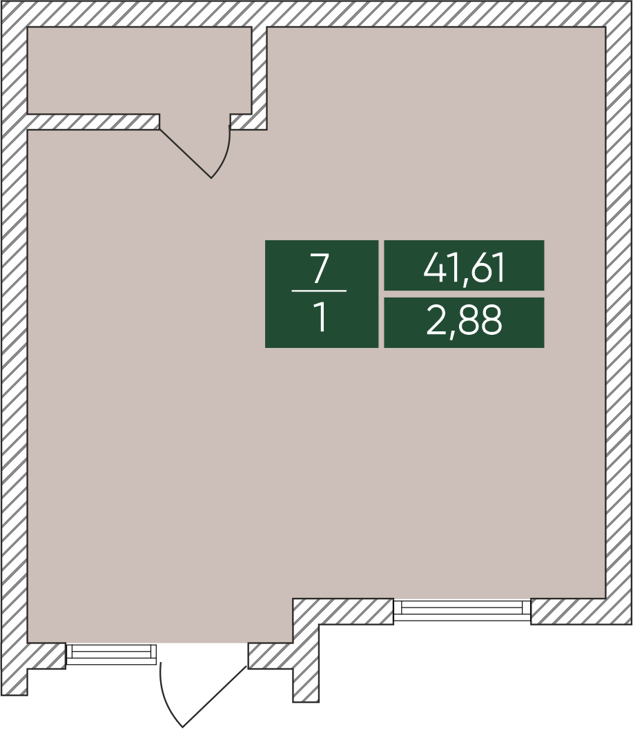 Нежитлове примiщення №7, секція 1, Дніпроводська,1 у ЖК Forest Park