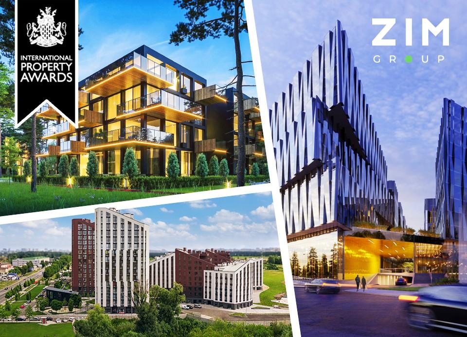 Проєкти компанії Zim Group вибороли перемогу в 4-х категоріях Міжнародного Конкурсу Нерухомості European Property Awards!