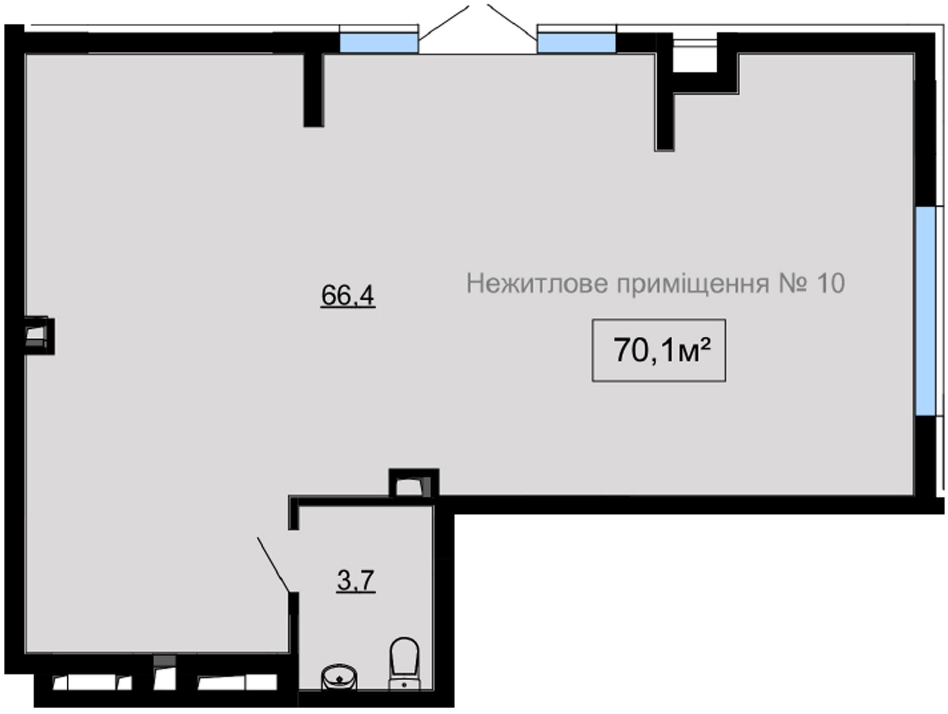 Вбудоване комерційне приміщення №10 , Панорамна, 4 у ЖК Paradise Avenue